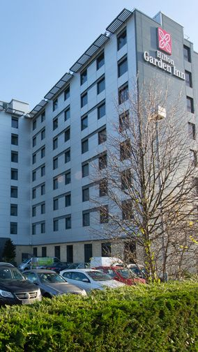 hilton garden inn, london, heathrow-airport, exteriör